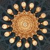 The chandelier inside Sultan Qaboos Grand Mosque in Muscat, Oman