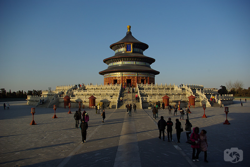 Constructed in 1406, The Temple of Heaven is a complex of Taoist buildings situated in the southeastern part of central Beijing. The complex was visited by the Emperors of the Ming and Qing dynasties for annual ceremonies of prayer to Heaven for a good harvest. It is regarded as a Taoist temple, although Chinese Heaven worship, especially by the reigning monarch of the day, pre-dates Taoism.
