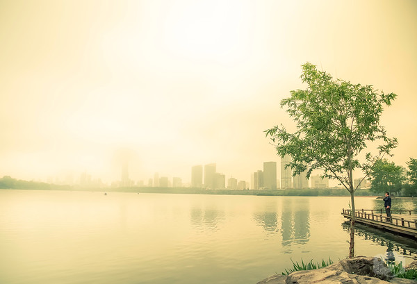 A Foggy Day at Xuanwu Lake
