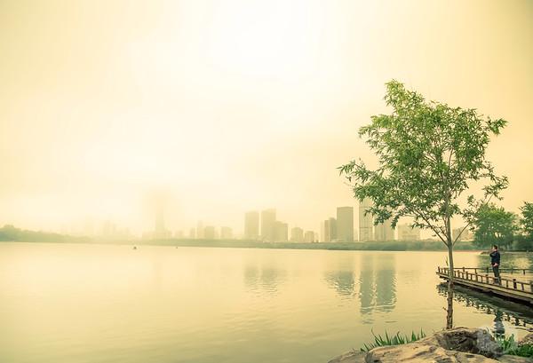 A Foggy Day at Xuanwu Lake
