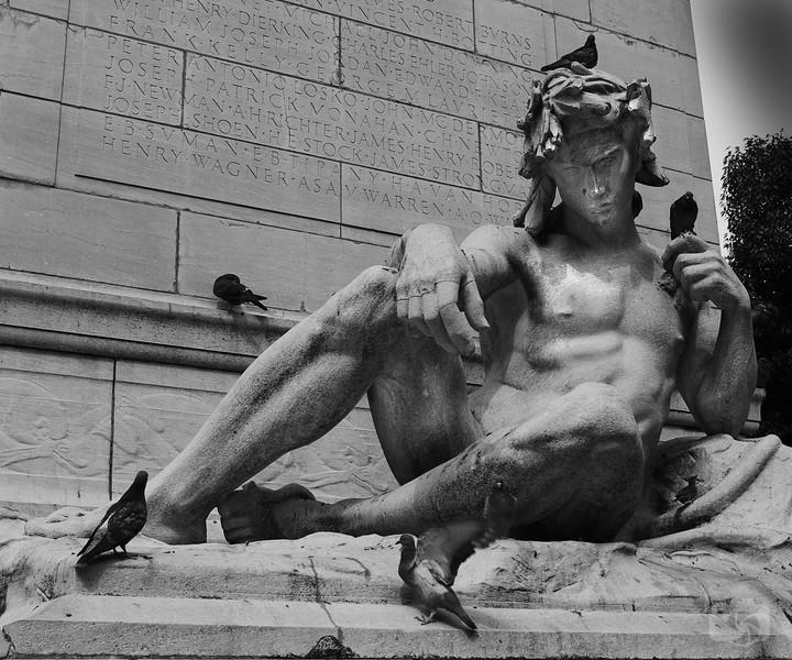 Statue of David on Columbus Circle