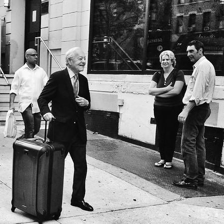 Bob Sheiffer outside the CBS Broadcast Center