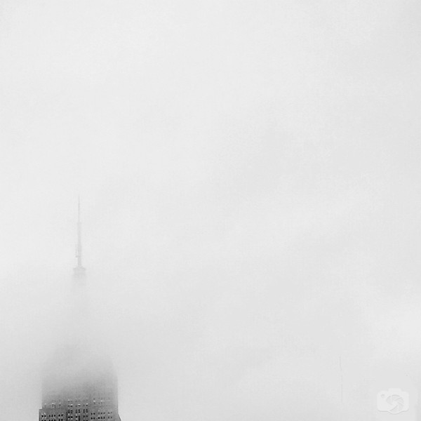 The Empire State Building in Fog