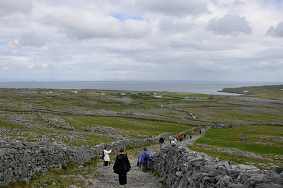 Walking back from Dún Aenghus.
