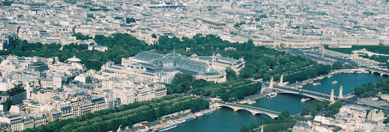 Top of the Eiffel Tower, St. Alexander Bridge