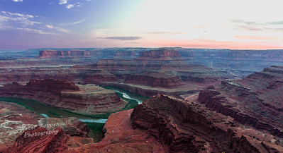 Canyonlands and Colorado River from Dead Horse Point, Utah, No. 2