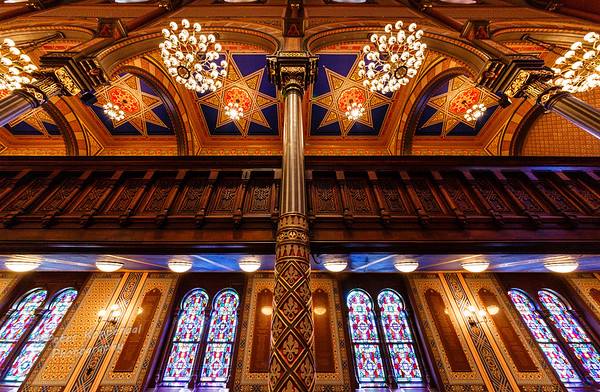 Archway & Chandeliers, Central Synagogue, New York City