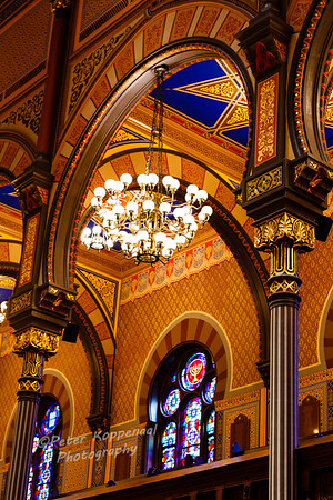 Archway & Chandelier,  Central Synagogue, New York City