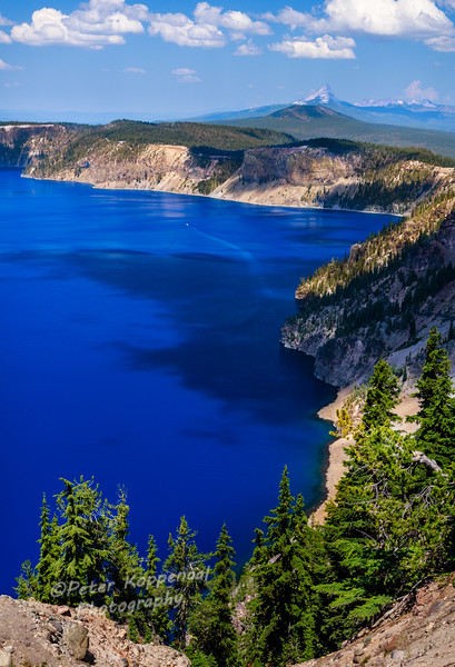 Crater Lake (See Boat, upper middle, for scale)