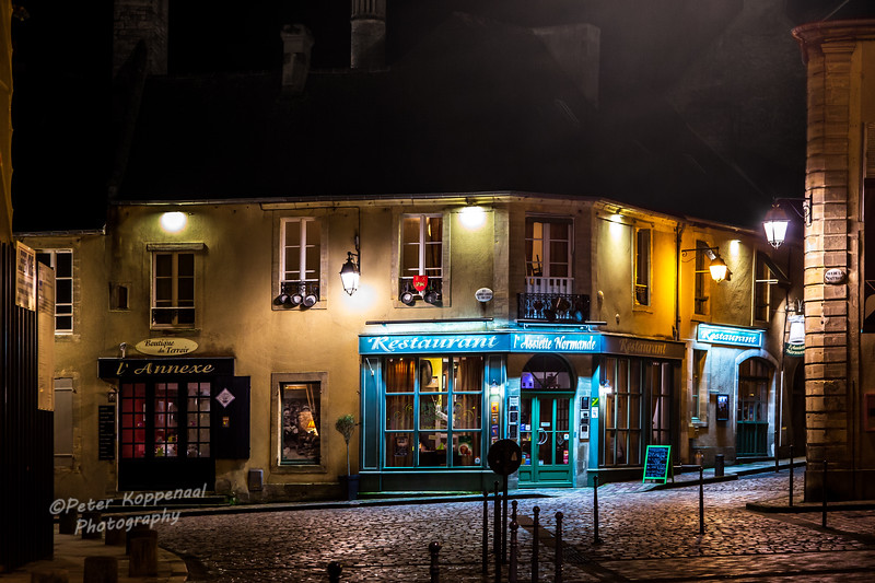 Normandy Cafe at Night