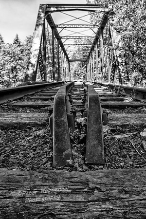 Abandonded Railroad Bridge, Black and White