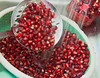 Rinsing fresh Pomegranet seeds