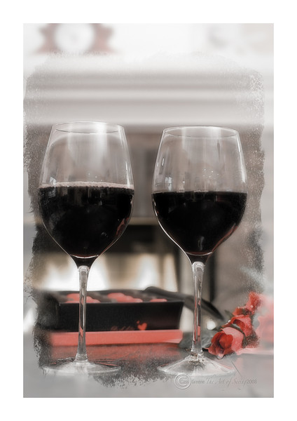 Wine, Chocolate and Roses