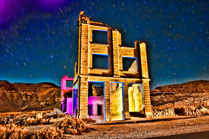 Death Valley Bank Facade   2004.11.18