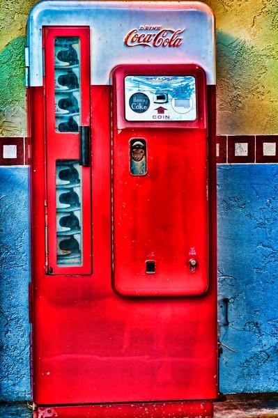 Old Vintage Coca Cola Machine at SeaPort Village