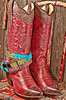 Cowboy Boots with rhinestone belt