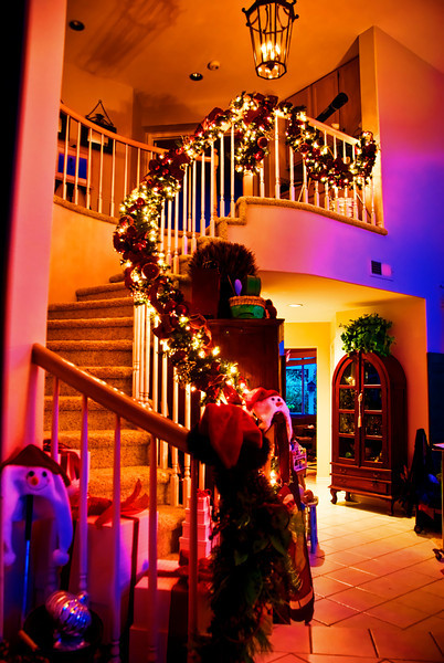 Christmas Garland  staircase  [2008.12.7]