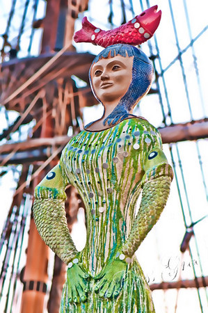 Mermaid at The Embarcadero in San Diego, California, USA