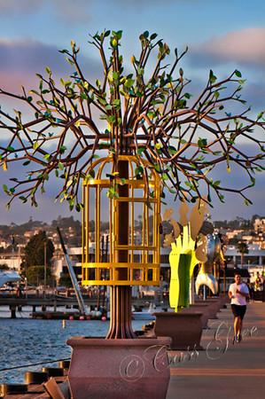 Bird Cage at the Embarcadero in San Diego, California, USA