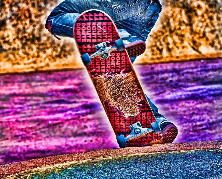 Pt Loma skate boarder  2011.4.15