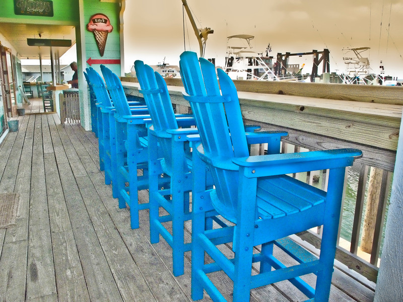 adirondack High Chairs at Outer Banks  2010.6.11