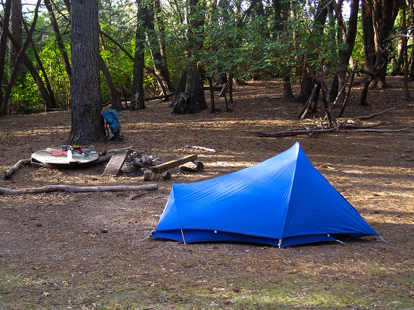 April 20.  Comings Camp.  Note the abandoned pack beyond mine.