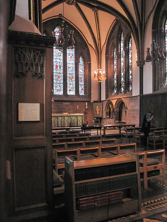 One of the chapels.  A little less oppressively dark.