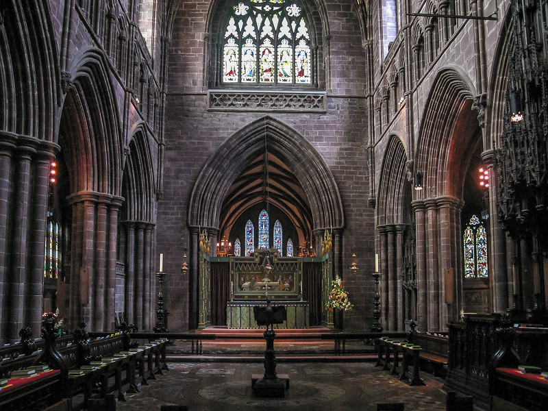 The presbytery and high alter from the quire.