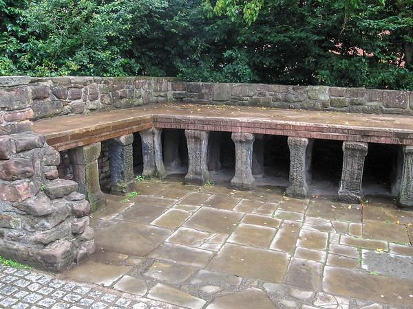 A Roman hypocaust section.