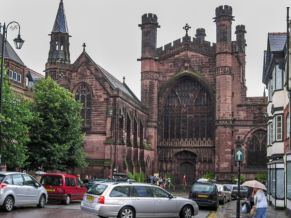 We did a little orientation first.  The front of Chester Cathedral.