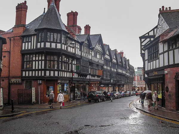 Tuesday, July 17.  A stop in Chester on the way from Conwy to York.  All very Elizabethian.