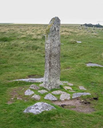 Merrivale.  Standing stone.