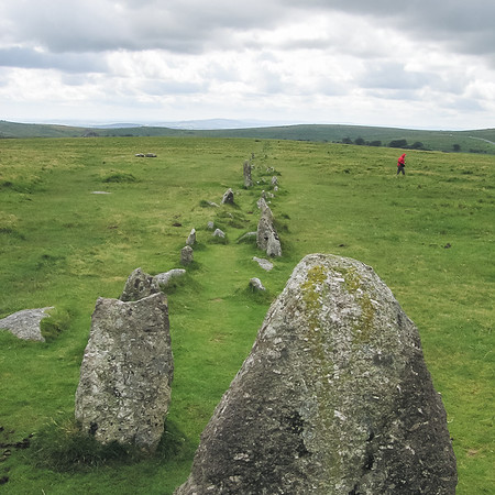 One of the Merrivale stone rows.  It was cold up here!