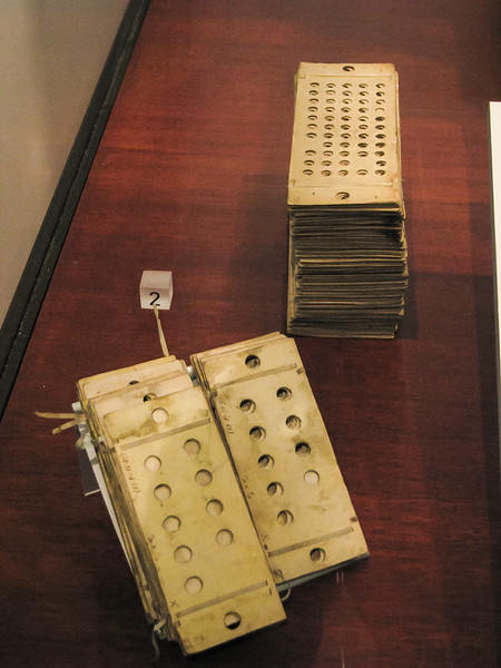 The programming cards for the Analytical Engine.