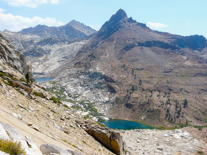 The two Monarch Lakes with Mineral Peak above.