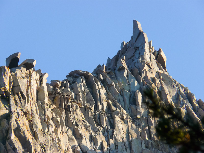 The crags above camp.
