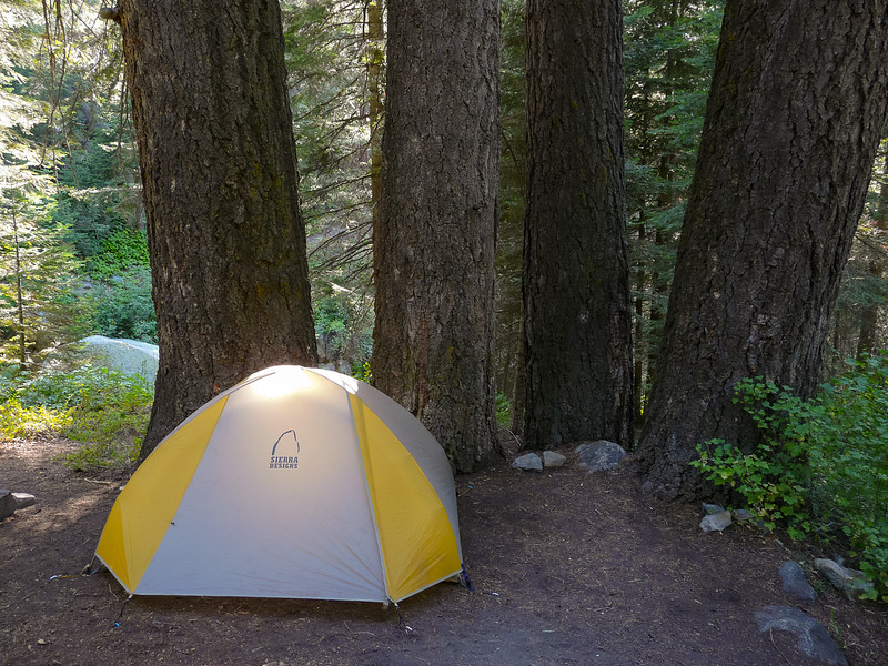 Finally down to Cliff Creek.  My camp under four huge white firs.