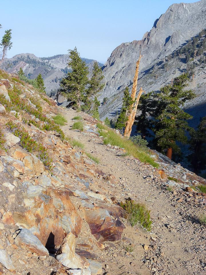 Monday, September 8. The hillside trail down.