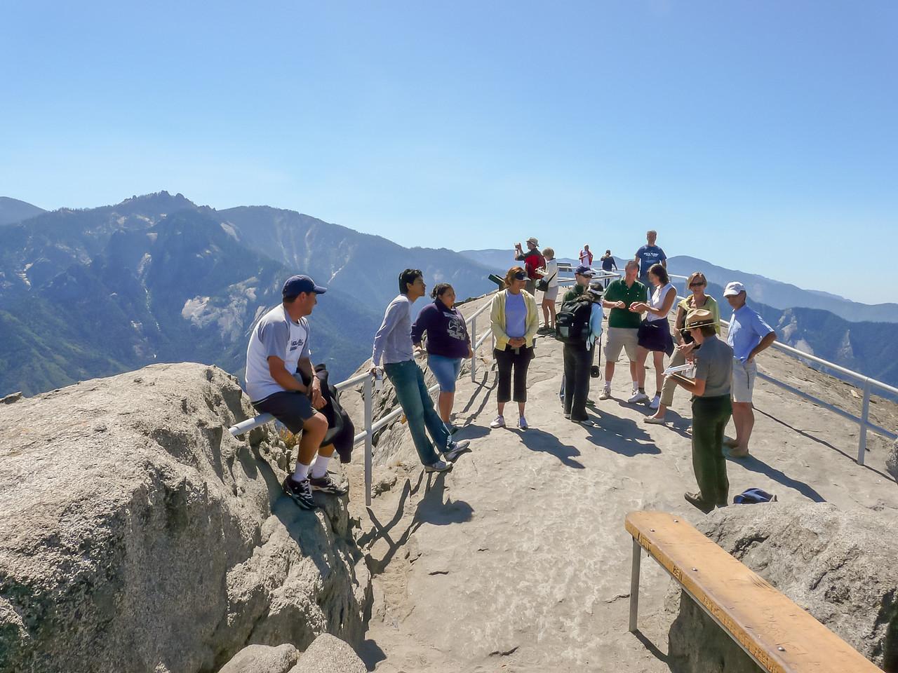 Up top: great views, precipitous drops, and a ranger presentation.