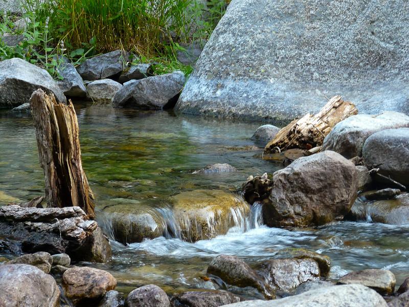 A little pool on Cliff Creek below camp.