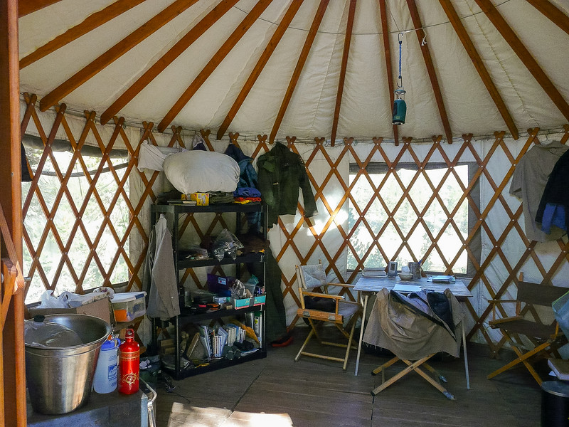The Little Five Lakes ranger station is a yurt.