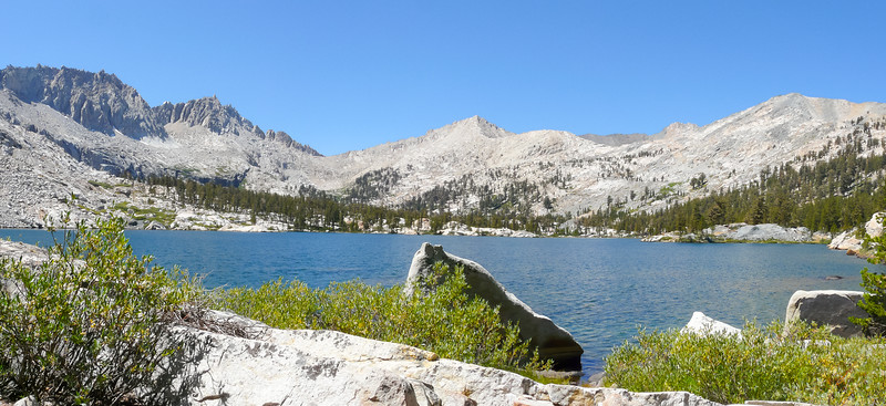 Camp today (another half day) was on Lake 10,192 -- the biggest of the Big Five Lakes.  The view from near camp.