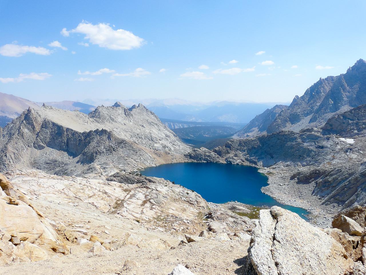 Columbine Lake from the pass.