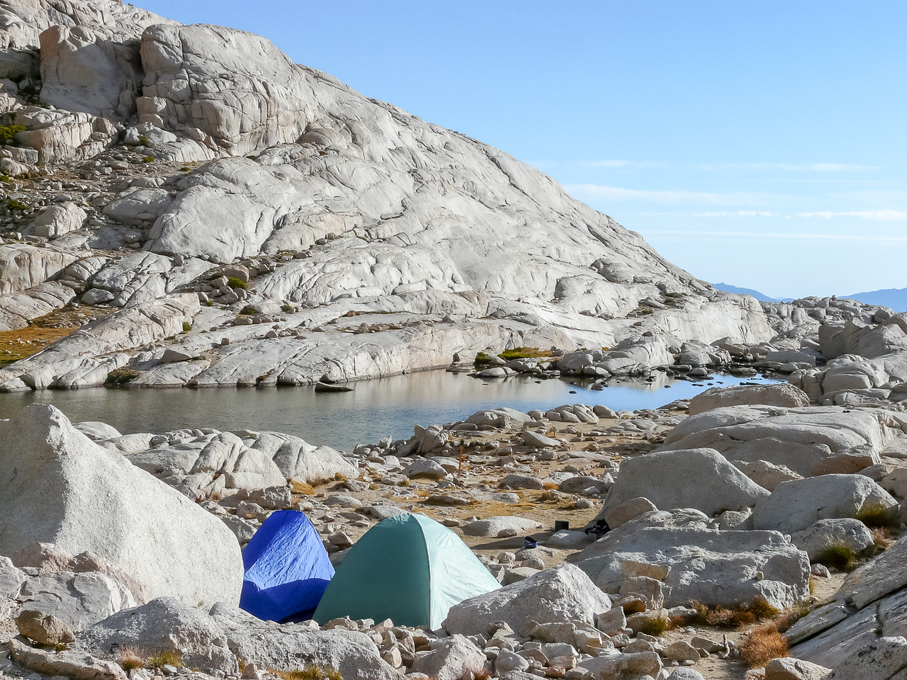 Day 9 - Saturday, September 12.  Some views of Trail Camp's tent city on the way out.