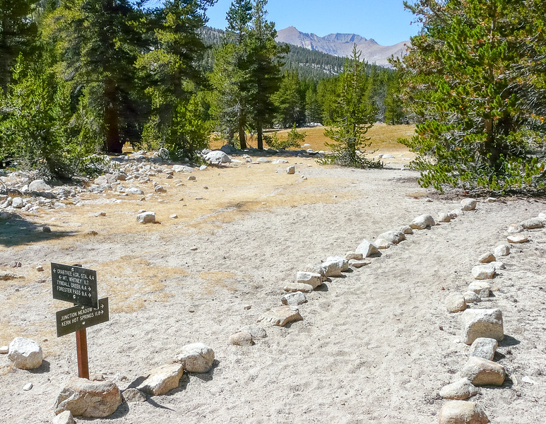 High Sierra Trail at Wallace Creek.  ('Stella' and her husband 'Cactus' were here too.)