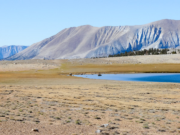 Now, to all that nothingness, add an equally barren pond in the middle of the Bighorn Plateau.