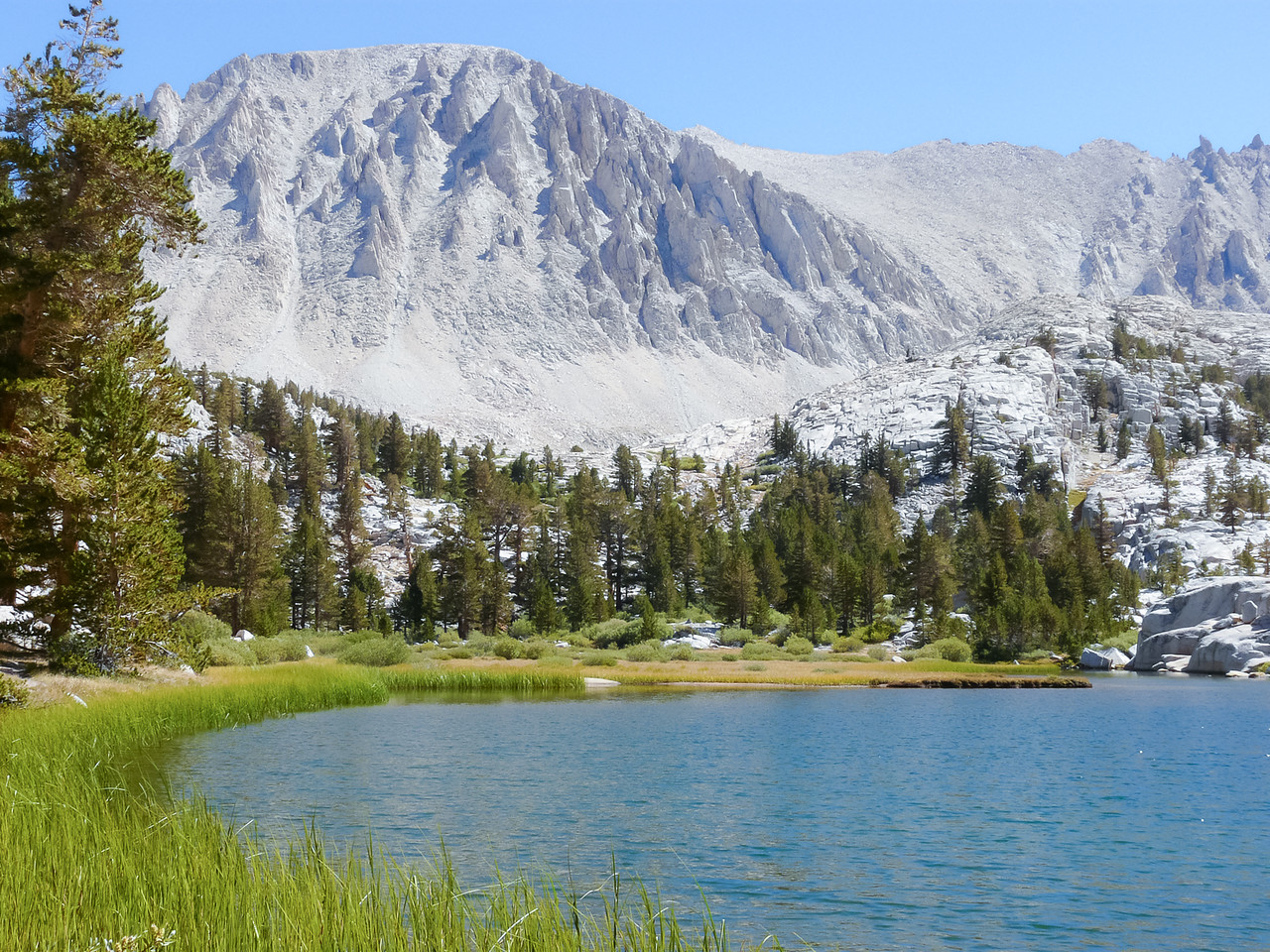 Timberline Lake with Whitney above.