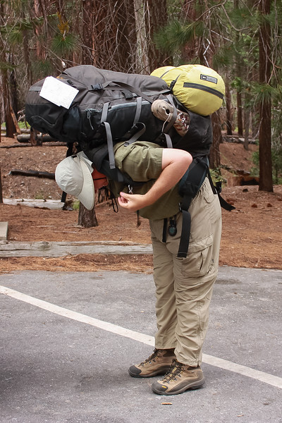 I launched this trip with a really large pack ... and didn't suffer that much for it.