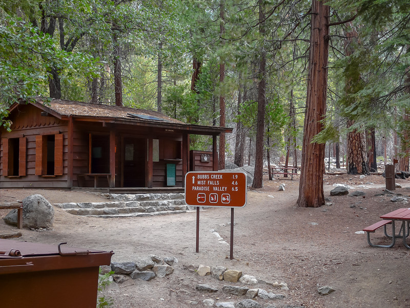 Day 1 - Friday, September 4.  The permit station and the trailhead in the Ponderosa Pines.