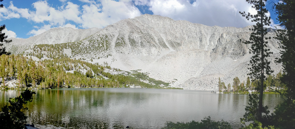 After setting up, I did the 500' climb (with a mile walk) to Steelhead Lake.